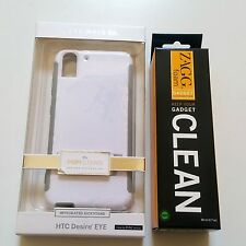 CaseMate POP! Stand Case Cover HTC Desire EYE White / Gray + Free ZAGG Cleaner