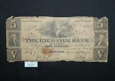 West Point Coins ~ $5 Note 1856 Exchange Bank of Virginia