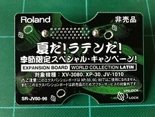 Roland SR-JV80-96 : WORLD COLLECTION LATIN Exp. Board Free shipping!!