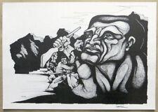 Ricardo CARPANI Signed Revolution Latin American Lithograph 10-1/4 x 15