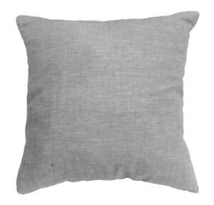 NL33a Pure 100% Linen Plain Light Gray Cushion Cover/Pillow Case*Custom Size*