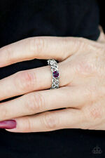 1-18 PAPARAZZI NWT CACHE OUT PURPLE RING STRETCHY BAND