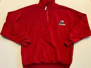 Colorado Avalanche Sweatshirt Men's 2XL NHL Hockey Pullover 1/4 Zip Fleece Red
