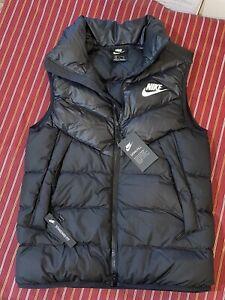 Nike Sportswear Mens Windrunner Down Filled Gilet Vest Black 928859-010 Size S