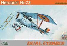 EDUARD MODELS 1/72 Nieuport Ni23 BiPlane Dual Combo (Ltd Edition Plasti EDU7073