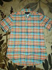 Nwt Polo Ralph Lauren S/s Patrerned Slim Fit Shirt Sz Large