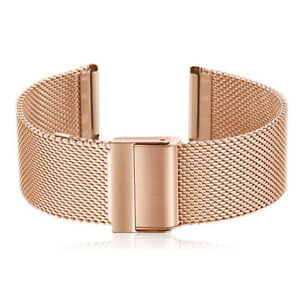 12-22mm Straps Thin Mesh Stainless Steel Watch Band Metal Clasp Bracelet Strap