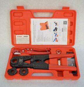 "Iwiss IWS-FAS Crimping Tool Kit for 3/8"" 1/2"" 3/4"" 1"" PEX Tubing"