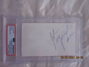 John Matuszak Oakland Raiders Signed Index Card Encapsulated PSA Authentication