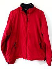 Mountain Equipment Co-Op Womens Jacket Windbreaker Red Sz L Fleece Lined Canada