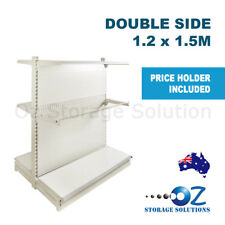 1.5m H x 1.2m W Double Sided Retail Gondola Supermarket Shelving Shop Display