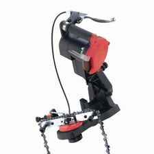 NEW ELECTRIC CHAINSAW SHARPENER GRINDER BENCH MOUNT WITH BRAKE AND WHEEL