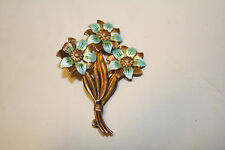 Symmetalic Sterling Silver & 14k Jewelry Pin Brooch Flower