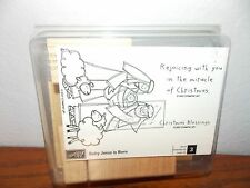 Stampin Up Baby Jesus Is Born Christmas Nativity New Stamp Set of 3 L0617