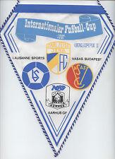 Orig.pennant   Intertoto Cup / IFC 1987    CZ JENA / AARHUS GF / V.BUDAPEST /..!