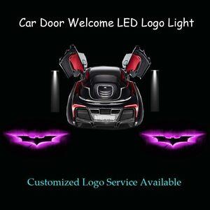 2x Pink Dark Knight Batman Logo Car Door Laser Projector Ghost Shadow LED Light