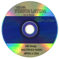VIVA FIESTA LATINA 450 SONGS Multiplex Audio & MPEG 4 CDG Free Shipping USA