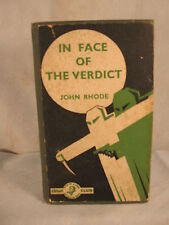 FACE OF THE VERDICT by JOHN RHODE rare old Crime Club detective novel Collins
