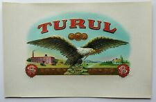 TURUL Cigar Art Label        Hanover, PA.         Early 1900's Stone Lithography