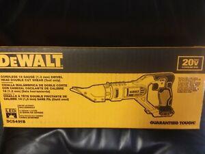 DEWALT DCS491B 20V SWIVEL HEAD DOUBLE CUT SHEARS 18 GAUGE NEW