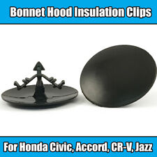 20x Clips For Honda Civic Accord Bonnet Hood Insulation Fastener Black Plastic