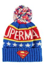 OFFICIALLY LICENSED DC COMICS SUPERMAN KNITTED BOBBLE HAT BEANIE