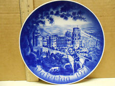 """Bareuther 1971 """"Vatertag"""" Father's Day Plate (Castle Heidelberg)"""