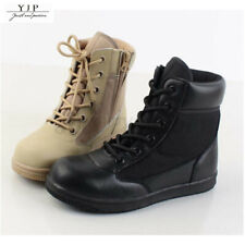 YJP Kids Child Boys Girls Tactical Combat Boots High Top Military Outdoor  * x