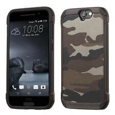 For HTC One A9 Slim Hybrid ShockProof Dual Layer Silicone Hard Case Cover BLACK