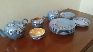 Vintage Cherry Blossom Lusterware Lot of 16 pieces Japanese