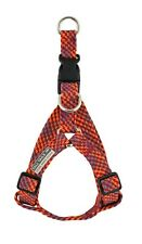 Tall Tails Size Large Adjustable Braided Dog Harness Red Orange Gray Durable EUC