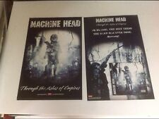 RARE! CD lp Machine Head PROMO POSTER 17x11 2sided vintage music