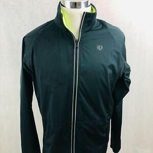 Pearl Izumi Jacket Medium Volt Green Reversible Black Reflective Windbreaker