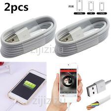2Pcs USB Sync Data Charging Charger Cables Cord For Apple iPhone 5 5C 5S 6 6plus