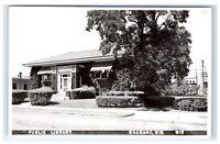 Postcard Public Library, Shawano, Wisconsin WI RPPC H15