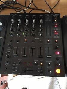 dj mixing decks And Mixer
