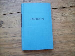 Ralph Waldo EMERSON Die Tagebücher *ausgewählt von Bliss Perry*HC 1954*