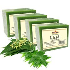 Khadi Natural Pure Neem Soap 125gm x 4 (Pack of 4)