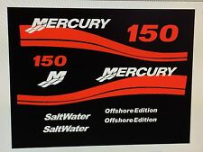 MERCURY 150 OFFSHORE OUTBOARD DECAL KIT  Other hp by request
