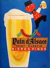 Metal Sign Beer Poster Nain D Alsace Bieres Fines Seguin 1950S A4 12x8 Aluminium