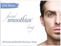 4 BOXES FACIAL SMOOTHIES LONG, 144 Anti-Wrinkle Strips for FOREHEAD - SAVE $8!