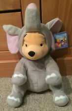 """Disney Winnie the Pooh Wearing Elephant Outfit Plush Soft Toy - With Tags (11"""")"""