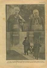 WWI Cardinal Mercier Archevêque de Malines / Général Wielemans 1917 ILLUSTRATION