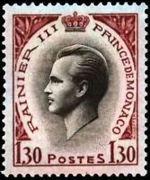 "MONACO STAMP TIMBRE YVERT N° 550A "" PRINCE RAINIER III 1F30 "" NEUF xx LUXE"