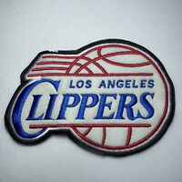 """Los Angeles LA Clippers NBA Basketball Sew On 6"""" Patch Embroidered Leatherette"""