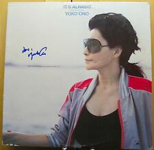 "Yoko Ono signed It's Alright 12"" lp"