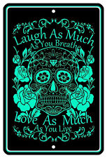 "8""x12"" METAL SIGN - DIA DE LOS MUERTOS 2 Day of the Dead Sugar Skull Halloween"