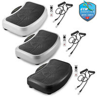 Full Whole Body Vibration Plate Platform Exercise Machine with Resistance Bands