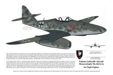 Me-262, Print, signed by the Pilot! Aviation Art, Ernie Boyette