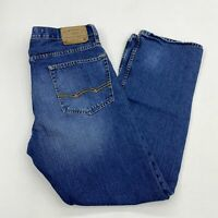 American Eagle Denim Jeans Mens 33X32 Blue Relaxed Straight Leg Medium Washed